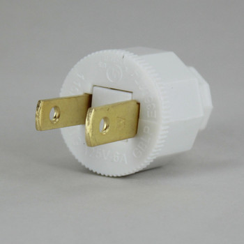 White - Polarized, Non-Grounding, SPT-2 EZ Wire Snap On Decorative Attachment Plug