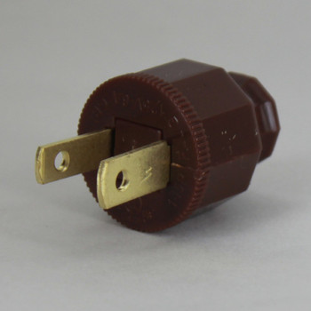 Brown - Polarized, Non-Grounding, SPT-2 EZ Wire Snap On Decorative Attachment Plug