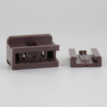 Brown - Polarized, Non-grounding, Male Gilbert / Slide Together Plug For Use With 18/2 SPT-2 Wire