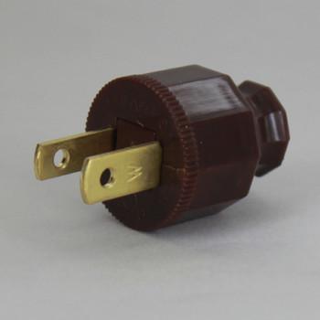 Brown - Polarized, Non-Grounding, SPT-1 EZ Wire Snap On Decorative Attachment Plug