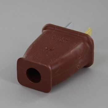 Brown - Polarized Thermoplastic Non-Grounding Spring Action Plug with Screw Terminal Connections