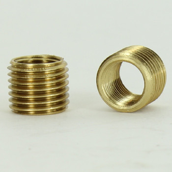 7/16in Long - 1/8IPS Female X 1/4ips Male  Unfinished Brass Reducer