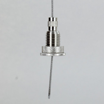 Polished Nickel Finish  Brass 1/4ips Threaded Fixture Holder Suspension System Ceiling Gripper