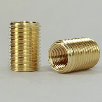 3/4in Long - 1/8IPS Female X 1/4ips Male  Unfinished Brass Reducer