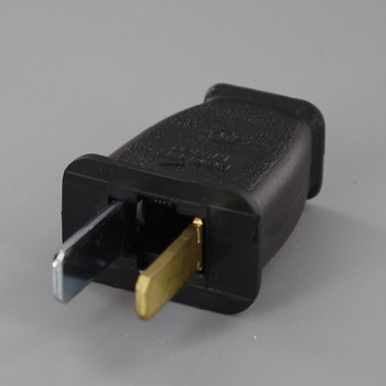 Black - Polarized, Non-Grounding, Spring Action Thermoplastic Plug with Screw Terminal Connections
