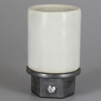 1/2ips. Cap - Leviton - E-26 Base Porcelain Keyless Socket with Screw Terminals