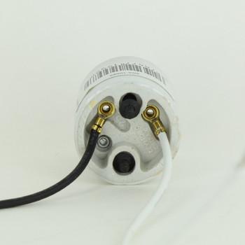 Leviton - E-26 Base Wired Porcelain Keyless Socket with 2 - 6/32 Mounting Screws