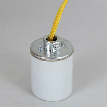 E-26 Porcelain Socket with 1/8ips. Cap and 10ft. Gold Wire Leads
