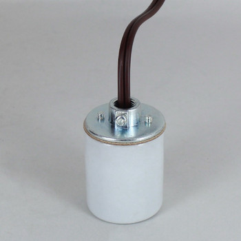 E-26 Porcelain Socket with 1/8ips. Cap and 10ft. Brown Wire Leads