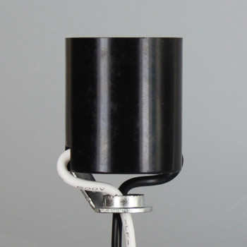 E-26 Medium Base Phenolic Lamp Socket With 1/8ips Threaded Hickey And 6in 18-AWM Leads
