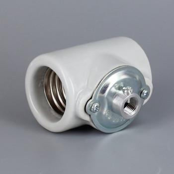 Import - E-26 Base Porcelain Keyless Twin Socket with 1/8ips. Bushing