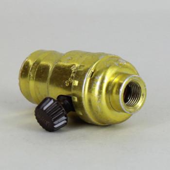 Leviton - E-17 Turn Knob Single Circuit Socket with 1/8ips. Female Threaded Bushing
