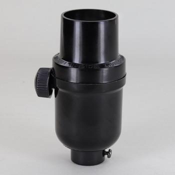 20W LED - 150W Incandescent Max Dimmable E-26 Lamp Socket - Black Phenolic Plastic