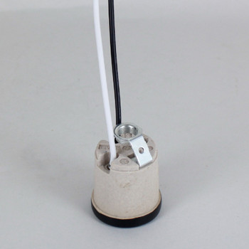 Leviton - Incandescent Lampholder with Black Shoulder and 1/8ips. Hickey