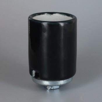 Black Glazed E-39 Mogul Base Porcelain Keyless Socket with 1/4ips. Cap