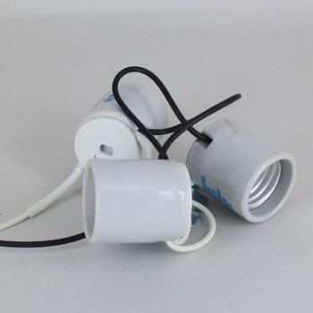 Three Light Porcelain Socket Cluster with 1/8ips Metal Strap