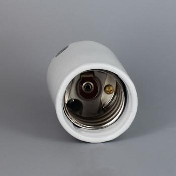 Leviton - E-39 Mogul Base Porcelain Keyless Socket with 1/4ips. Cap and Set Screw