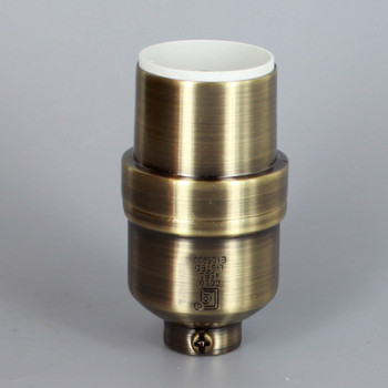 Antique Brass Finish Aluminum Modern Style Keyless Lamp Socket with 1/8ips Threaded Cap