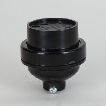 GU24 Phenolic Keyless Socket 1/8ips Female Threaded Cap - Black