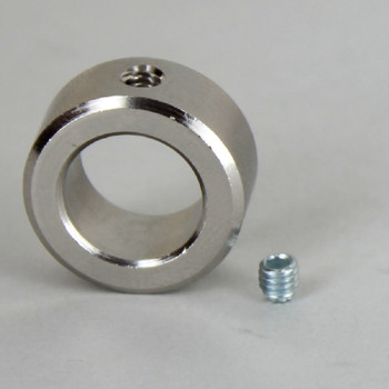 1/2in. Modern Slip Ring with Side Screw - Slips 1/4ips Pipe - Polished Nickel Finish