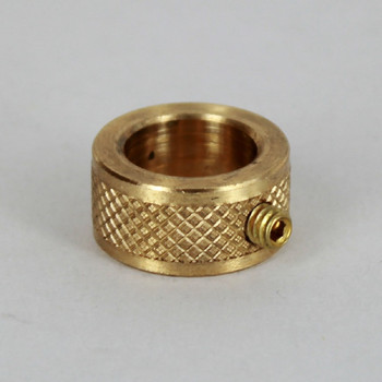 1/2in Diamond Knurled Slip Ring - Slips 1/4ips Pipe - Unfinished Brass