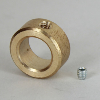 1/2in. Modern Slip Ring with Side Screw - Slips 1/4ips Pipe - Unfinished Brass