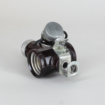 Leviton - E-26 Screw-In Socket Adaptor with Pullchain Switch and 1/8ips. Hickey
