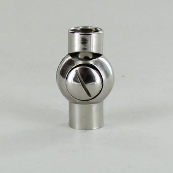 1/4IPS Female X 1/4IPS Female Thread Polished Nickel Finish Friction Ball Swivel with Locking Screw