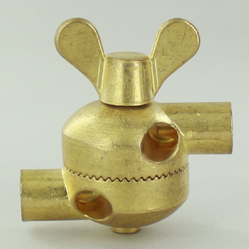 1/4ips. Female Threaded Unfinished Brass Cast Key Swivel with External Wire way