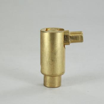 1/8IPS Male X 1/4IPS Female Threaded Adjustable 90 Degree Swivel - Unfinished Brass