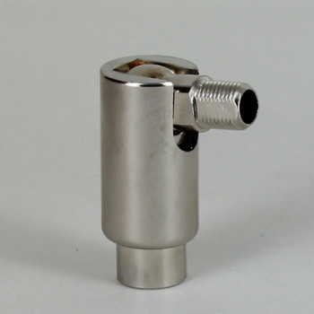 1/8IPS Male X 1/4IPS Female Threaded Adjustable 90 Degree Swivel - Polished Nickel