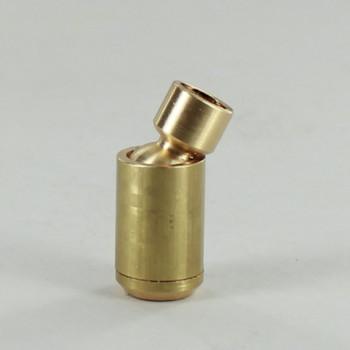 1/8ips Threaded Brass Swivel - Unfinished Brass