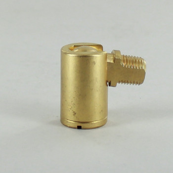 1/8ips Threaded 90 Degree Small Swivel - Unfinished Brass