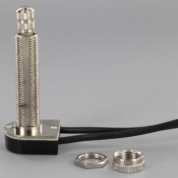 1-1/2in. Shank On-Off Rotary Switch with 6in. Wire Leads - Nickel Plated