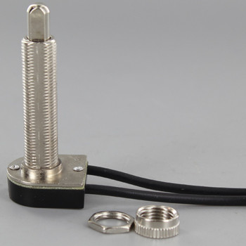 1-1/2in. Shank Push Button On/Off Switch - Nickel Plated