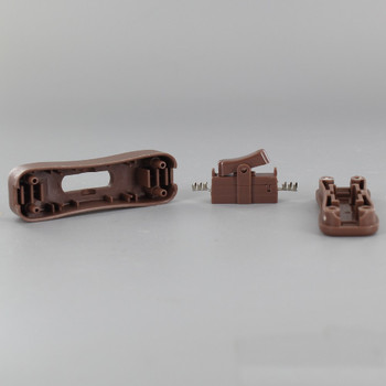 In-Line Toggle Switch for use with SPT-1 Type Wire - Brown