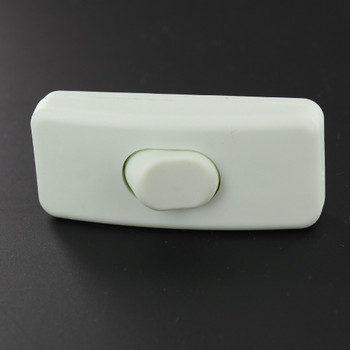 Single Pole, On/off Rocker Line Switch With Crimp On Wire Connection for SPT-2 Wire - White