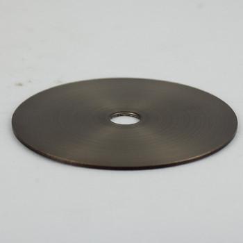 3in Diameter - Steel Washer - 1/8ips Slip Center Hole - Antique Brass Finish