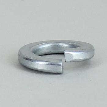 7/8in Diameter - Split Steel Lock Washer - 1/4ips Slip Center Hole - Zinc Plated