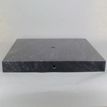 11in Diameter Square Black Marble Lamp Base