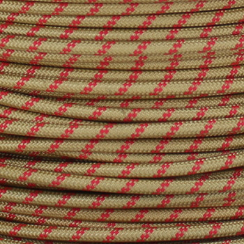 16/1 Single Conductor AWM 90 Degree Gold Rayon Wire with Red Thread Tracer