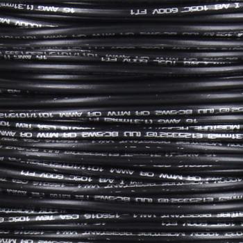 16/1 Single Conductor AWM 105 Degree Black Wire