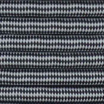 18/2 SVT-B BLACK/WHITE DIAMOND PATTERN NYLON FABRIC CLOTH COVERED PENDANT AND TABLE LAMP WIRE