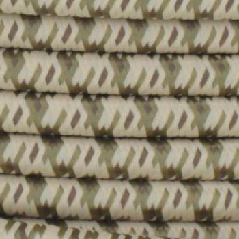 18/2 SVT-B DESERT CAMO PATTERN NYLON FABRIC CLOTH COVERED PENDANT AND TABLE LAMP WIRE
