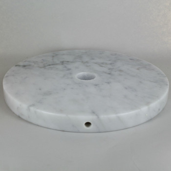11in Diameter Round  White Marble Lamp Base