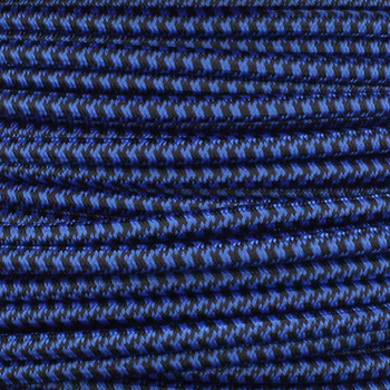 18/2 SVT-B BLUE/BLACK HOUNDSTOOTH NYLON FABRIC CLOTH COVERED PENDANT LAMP WIRE