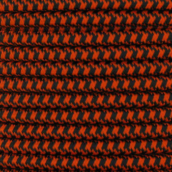 18/2 SVT-B BLACK/SAFETY ORANGE HOUNDS TOOTH PATTERN NYLON FABRIC CLOTH PENDANT AND TABLE LAMP WIRE