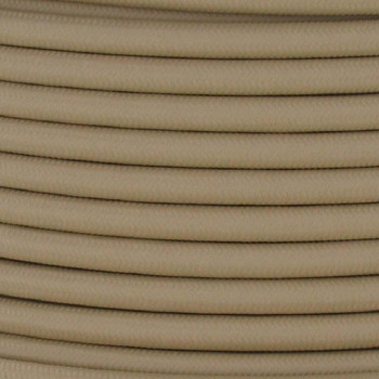 18/2 SVT-B  BEIGE Nylon Fabric Cloth Covered Pendant and Table Lamp Wire