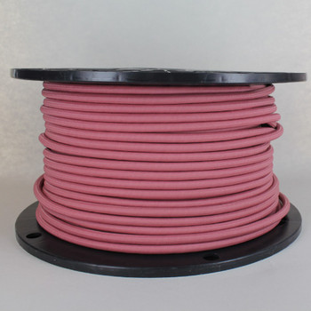 18/2 SVT-B Dusty Rose Nylon Fabric Cloth Covered Pendant and Table Lamp Wire
