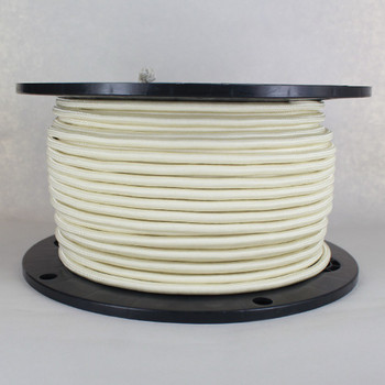 18/2 SVT-B Cream Nylon Fabric Cloth Covered Pendant and Table Lamp Wire